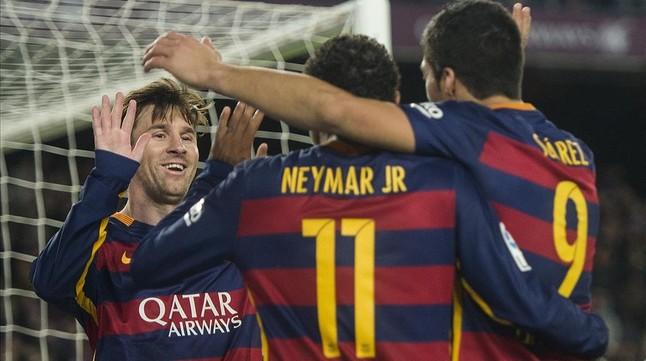 El tridente del Barça puede dar espectáculo en vísperas de fin de año.