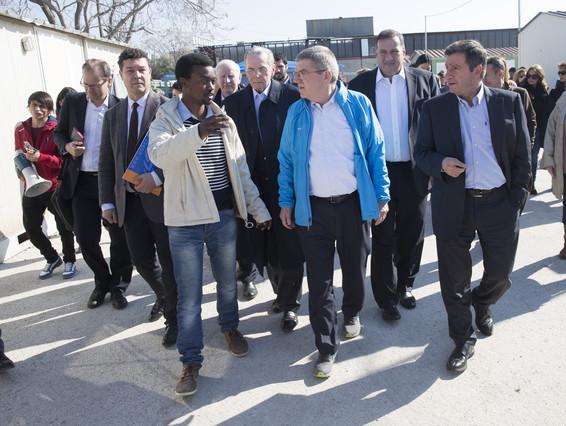 El Presidente del COI, Thomas Bach, en su visita a Grecia.