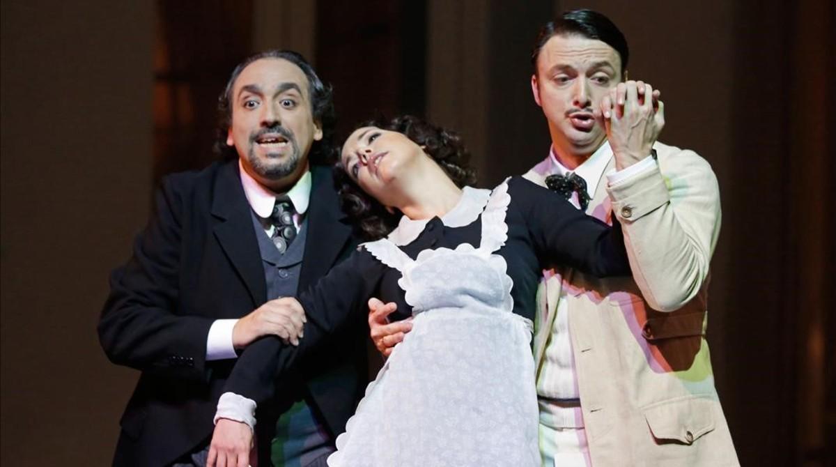 Un momento de la representación de Le nozze de Figaro en el Liceu.