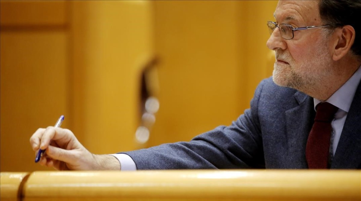 Mariano Rajoy, el pasado martes en el Senado.