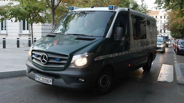 Llegan a la Audiencia Nacional los detenidos de los atentados de Barcelona y Cambrils