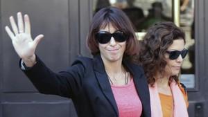 Juana Rivas a la salida de los jugados de Granada el día 5 de septiembre.