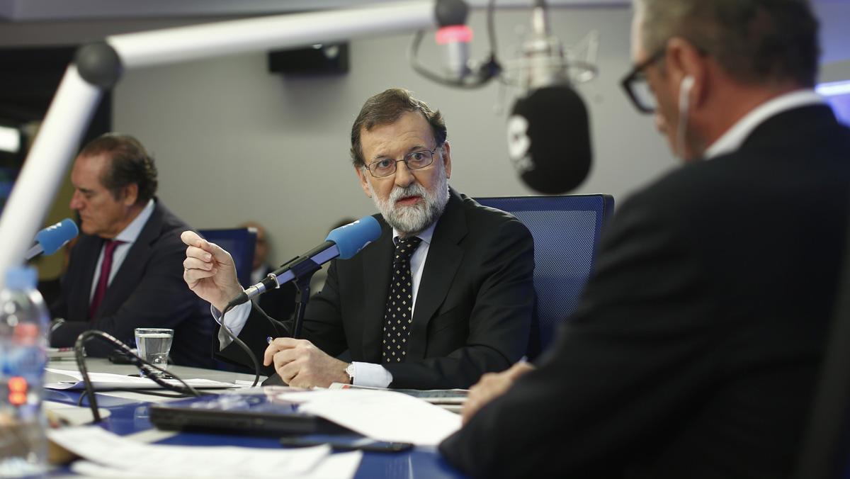 Mariano Rajoy entrevistado en la COPE