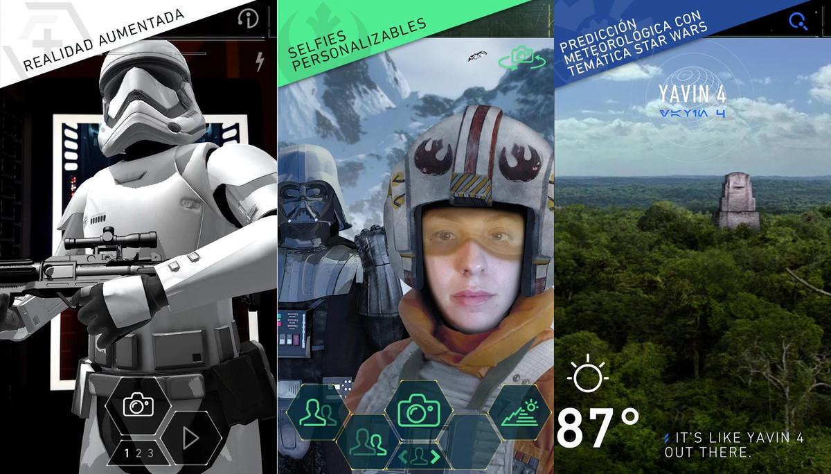 La aplicación Star Wars.