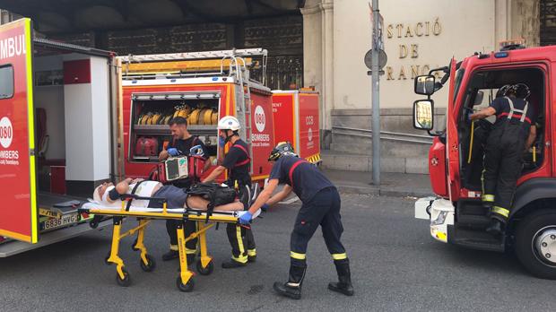 L'accident d'un tren a l'estació de França de Barcelona, en directe