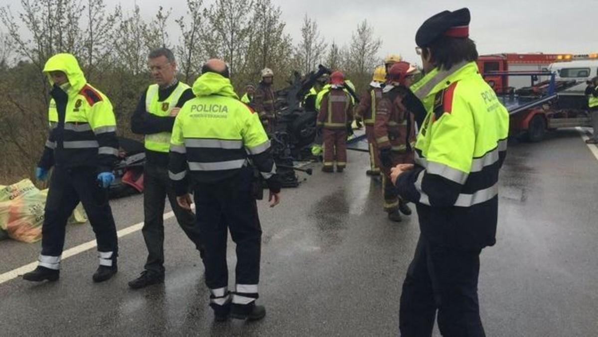Siete muertos y un herido grave en un accidente en la N-2, en Figueres