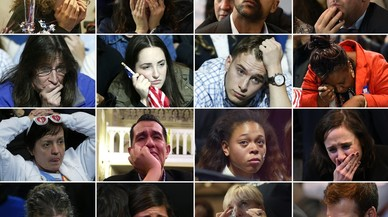 Los rostros tras los resultados