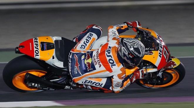 Marc Márquez (Honda), en el test de ayer en Doha (Catar).