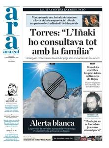 Urdangarin y Cristina, Bárcenas y Mas, en las portadas