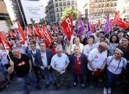 Toxo y Álvarez, en un manifestación sindical.