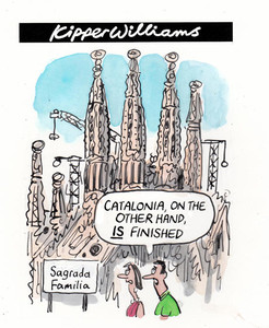 Ilustraci�n de Kipper Williams en 'The Guardian' sobre la situaci�n catalana.
