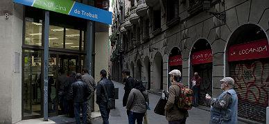 Oficina de empleo en Barcelona.