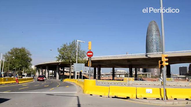 Deconstrucci�n del anillo de las Gl�ries. Diagonal con Cartagena