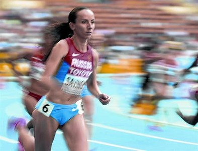 Mariya Savinova, en la final de los 800 metros de los Juegos de Londres-12, prueba en la que gan� el oro.