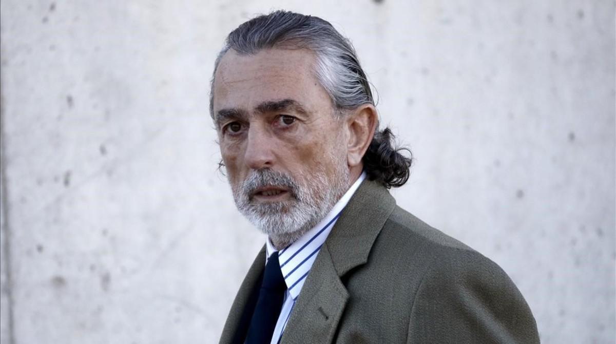 Francisco Correa, este lunes, a su llegada a la Audiencia Nacional.