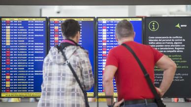 Cancel·lats 63 vols entre Espanya i França per la vaga de controladors francesos