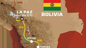 El recorrido del Dakar 2018 en Bolivia