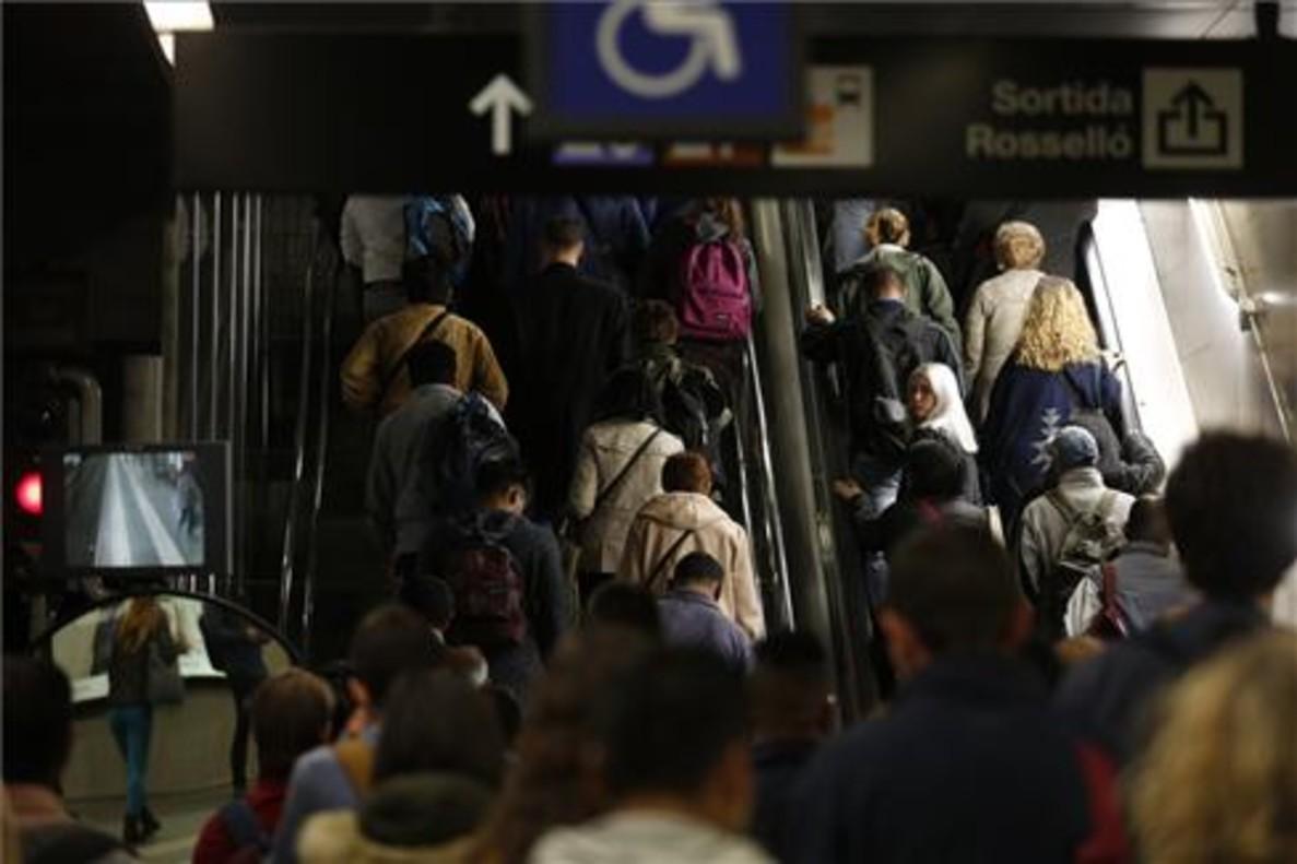 Huelga de metro de Barcleona
