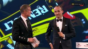 Kubica y Coulthard, durante la Gala Autosport
