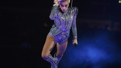 Actuacióde la cantantLady Gaga en la Super Bowl.