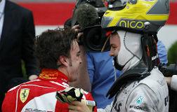 Alonso y Rosberg.