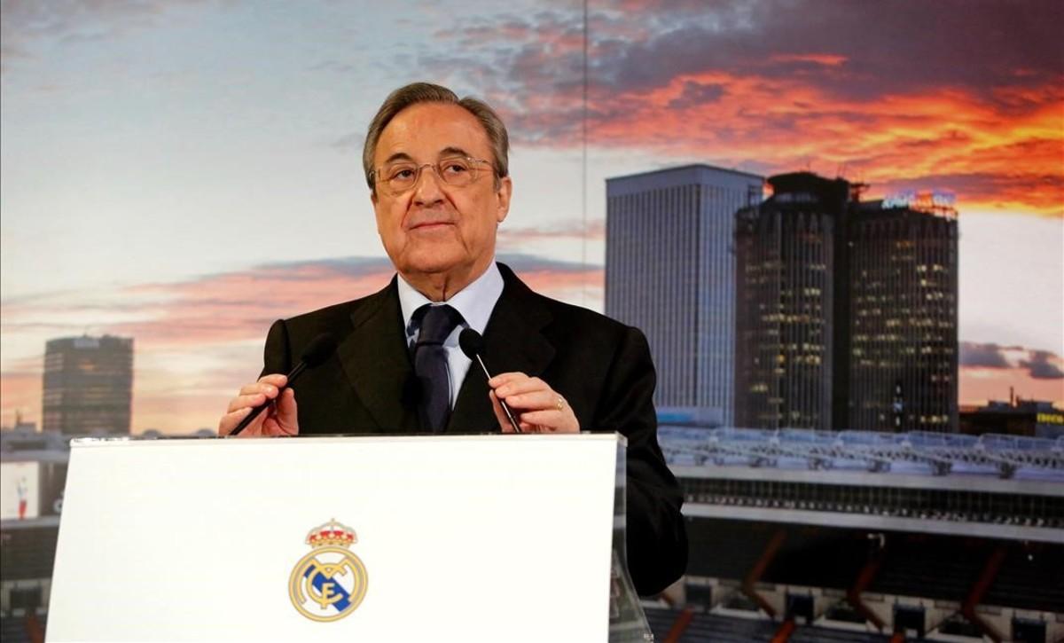 Florentino Pérez, en un reciente acto en el Bernabéu