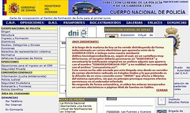 Interior advierte del env o de falsos mensajes de la for Pagina web ministerio interior