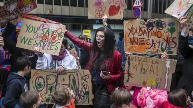 Manifestacion Volem acollir, 'Casa meva, Casa vostra', en Barcelona