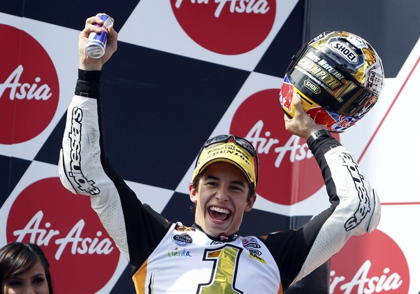 M�rquez se corona campe�n de Moto2 con otro podio