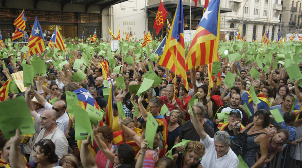 La manifestaci&amp;#243;n de la Diada, el 11 de septiembre del 2012