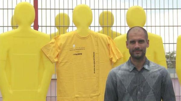 Guardiola apoya la Via Catalana
