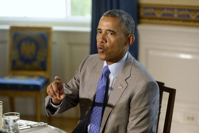 Barack Obama, el lunes en la Casa Blanca, durante un encuentro con profesores.