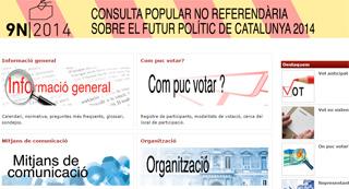 Informaci�n institucional de la consulta en la web de la Generalitat, en una imagen de las 17.40 horas de este martes.