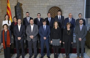 Foto de familia de los nuevos consellers del Govern.