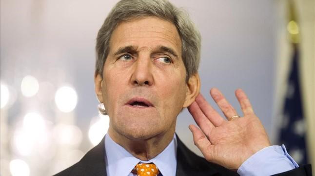 El secretario de Estado de EEUU, John Kerry, en una rueda de prensa, este miércoles.