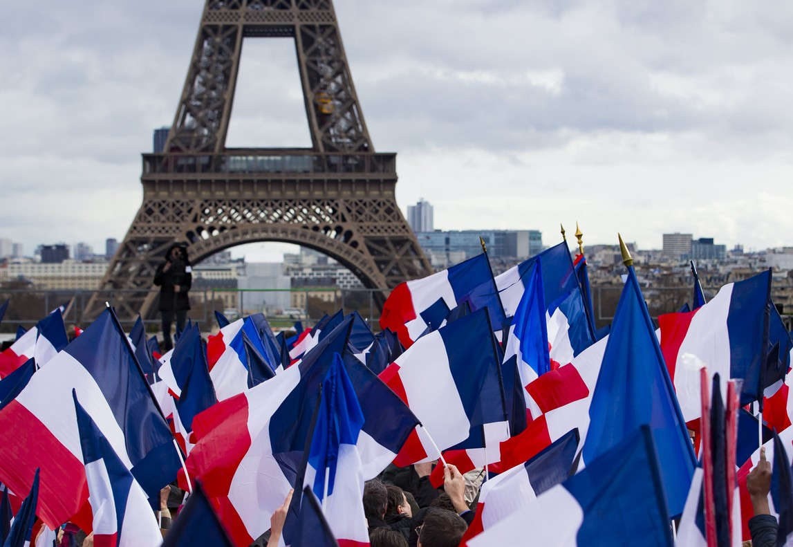 Francois Fillon supporters meeting in Paris