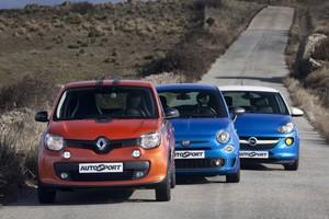 Renault Twingo GT, Opel Adam 1.4 y Fiat 500 S: a un paso de la diversión