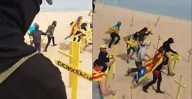 La CUP denuncia amenazas de muerte al concejal de Canet por las cruces en la playa