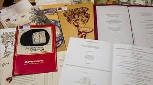 Algunas de las cartas que ahora custoria el campus universitario de Torribera, en Santa Coloma de Gramenet.