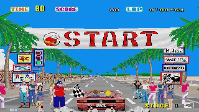 Imagen del videojuego 'Out Run'.