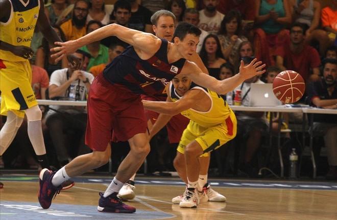Kurucs, en un partido de pretemporada ante el Morabanc Andorra