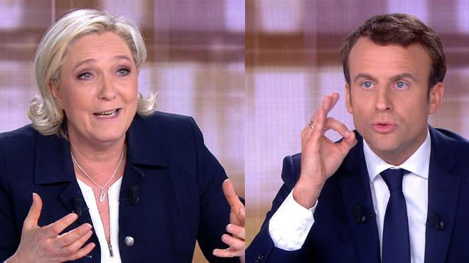 Macron se refuerza frente a Le Pen en un duelo televisivo de alta tensión