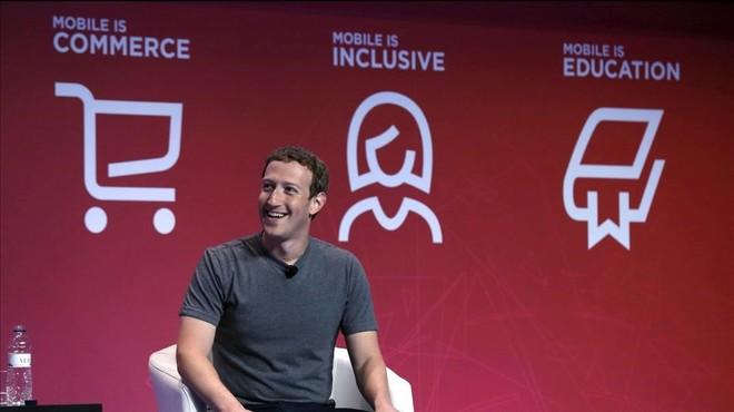 Mark Zuckerberg durante la conferencia en el Mobile World Congress.