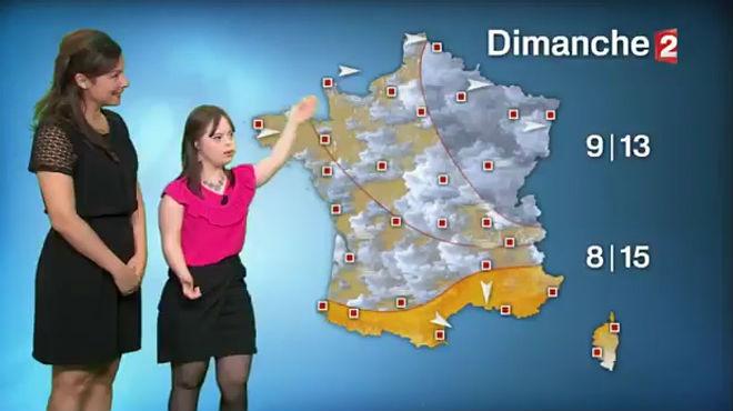 La noia francesa amb síndrome de Down compleix el seu somni de presentar el temps
