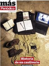 Portada del Más Periódico de este domingo con las herramientas de trabajo de Marginedas.