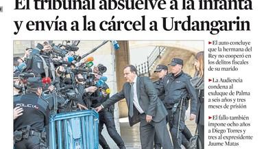 Cristina de Borbó, emplaçada a renunciar als seus drets successoris per 'El Mundo' i 'Abc'