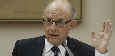 El ministro de Hacienda, Crist�bal Montoro, en la comisi�n parlamentaria.