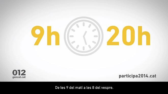 El anuncio que explica c�mo votar el 9-N.