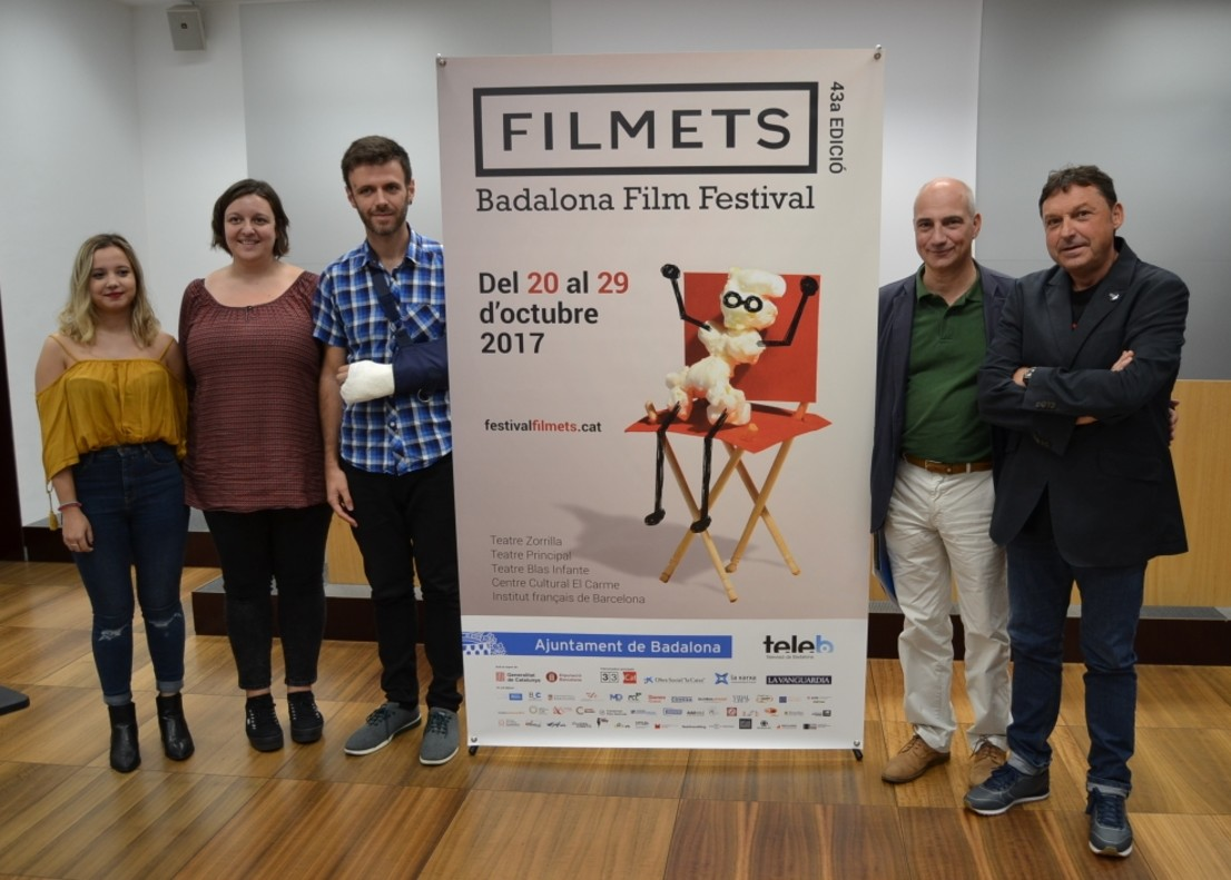 Presentación del festival Filmets en Badalona.