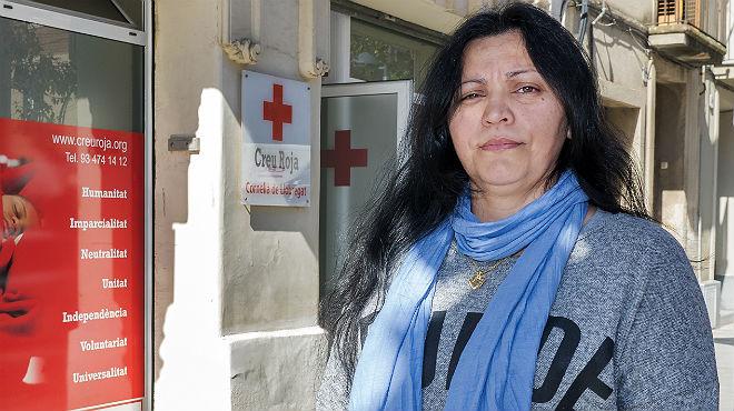 Andrea Zárate, beneficiaria de Cruz Roja.